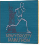 New York City Marathon3 Wood Print