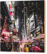 New York City Night II Wood Print