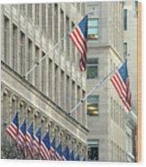 New York City Patriotism Wood Print