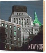 New York City Poster - Wall Street Wood Print
