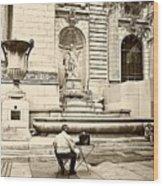 New York City Public Library Wood Print