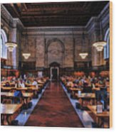 New York City Public Library Rose Reading Room Wood Print