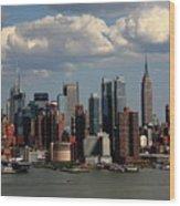 New York City Skyline 4 Wood Print