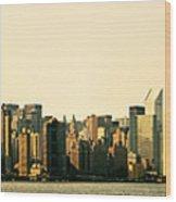 New York City Skyline Panorama Wood Print