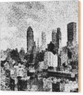 New York City Skyline Sketch Wood Print