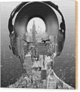New York City Sound Wood Print