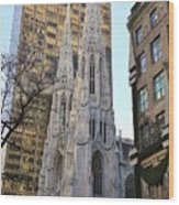 New York City St. Patrick's Cathedral Wood Print