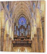 New York City St Patrick's Cathedral Organ Wood Print