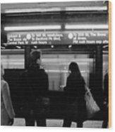 New York City Subway Wood Print
