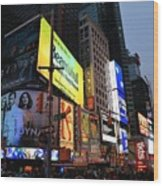 New York City Times Square Wood Print