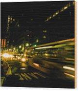 New York City Traffic Wood Print