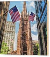 New York City Trinity Church Wood Print