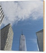 New York City's Freedom Tower - A Perspective Wood Print
