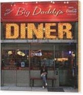 New York Diner 1 Wood Print