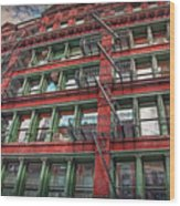 New York Fire Escapes Wood Print