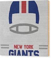 New York Giants Vintage Art Wood Print