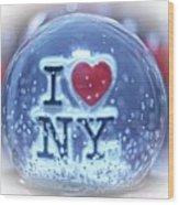 New York Greetings  Wood Print