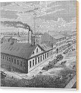 New York: Iron Works, 1876 Wood Print