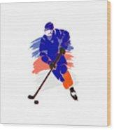 New York Islanders Player Shirt Wood Print