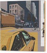 New York Jazz I Wood Print