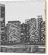 New York Wood Print