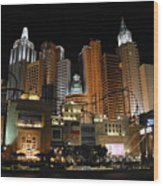 New York Las Vegas Wood Print