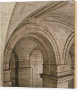 New York Library Wood Print