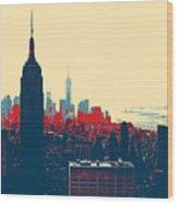 New York Manhattan Wood Print