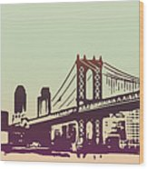 New York Manhattan Bridge Wood Print
