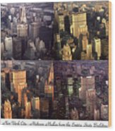New York Mid Manhattan Medley - Photo Art Poster Wood Print
