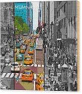 New York Midtown 123 Wood Print