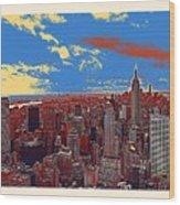 New York Ny Wood Print