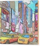 New York On A Sunday Wood Print