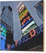 New York Police Department Wood Print