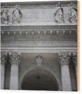 New York Public Library- Art By Linda Woods Wood Print