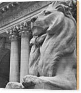 New York Public Library Wood Print