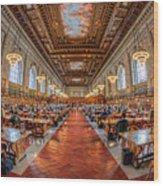 New York Public Library Main Reading Room I Wood Print