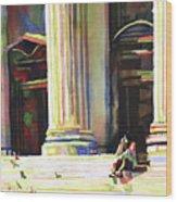 New York Public Library Wood Print