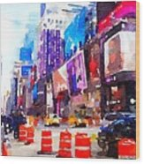 New York Pulse Wood Print