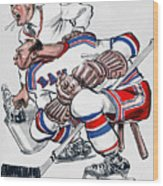 New York Rangers 1960 Program Wood Print