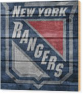 New York Rangers Barn Door Wood Print