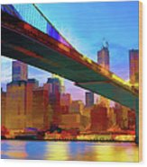 New York Skyline 11 Wood Print