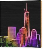 New York Skyline Wood Print by Aaron Berg