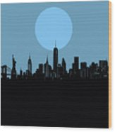 New York Skyline Minimalism 2 Wood Print