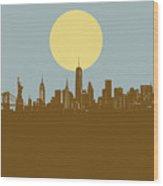 New York Skyline Minimalism 3 Wood Print