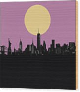 New York Skyline Minimalism Wood Print