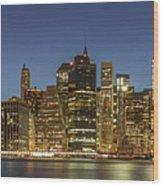 New York Skyline Panorama - 2 Wood Print