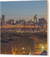 New York Skyline - Queensboro Bridge Wood Print