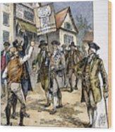 New York: Stamp Act , 1765 Wood Print