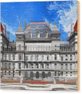 New York State Capitol Wood Print